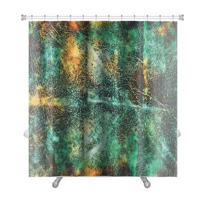 Art Primo Abstract Grunge Style Premium Shower Curtain