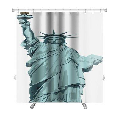 Patriotic Statue of Liberty Premium Shower Curtain