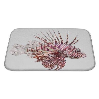 Fish Lionfish, Pterois Volitans Bath Rug Size: Large