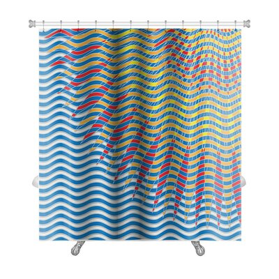 Gecko Reflection of the Sun on the Water Premium Shower Curtain