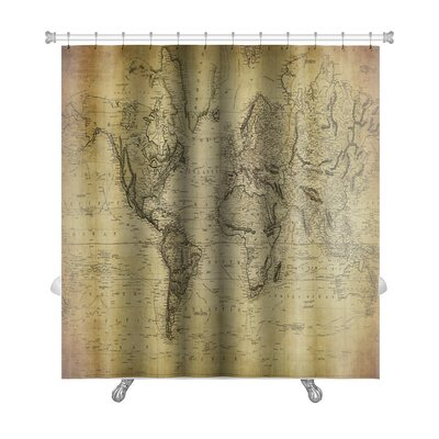 Earth Vintage Map of the World 1814 Premium Shower Curtain