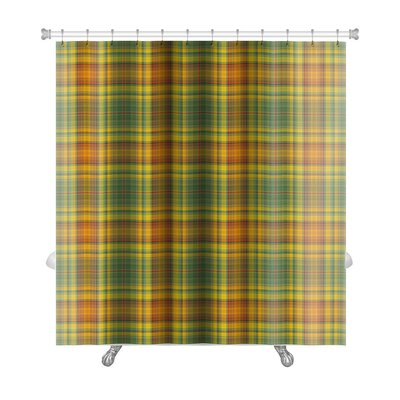Picnic Plaid in Shades Premium Shower Curtain