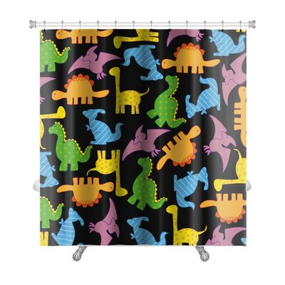 Dinosaurs Dinosaurs Pattern Premium Shower Curtain