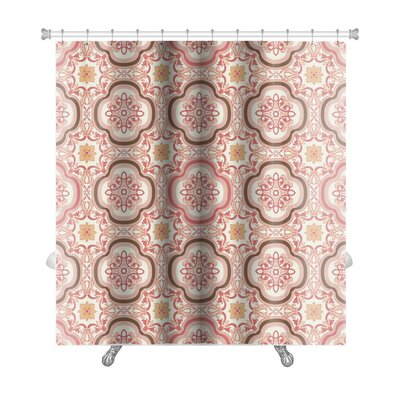 Gecko Vintage Flower Floral Abstract Wallpaper Royal Fabric Premium Shower Curtain