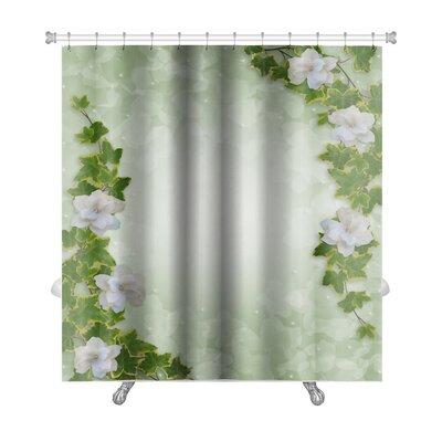 Alpha Flowers Premium Shower Curtain