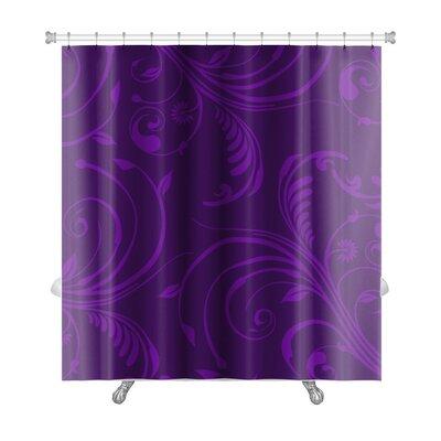 Bravo Elegant Stylish Abstract Floral Premium Shower Curtain
