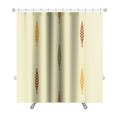 Leaves Various Silhouettes on Light Premium Shower Curtain