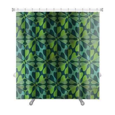 Gamma Vintage Pattern Abstract Premium Shower Curtain Color: Green