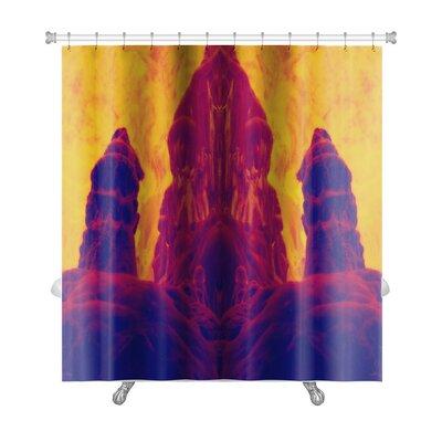 Skyline Abstract Image Fossilized Dwarf Image Enhanced Premium Shower Curtain