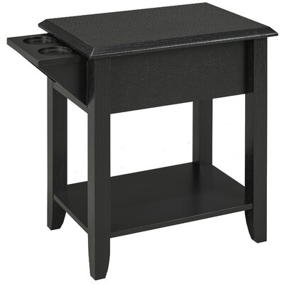 Multi-Tiered Telephone Table Color: Black