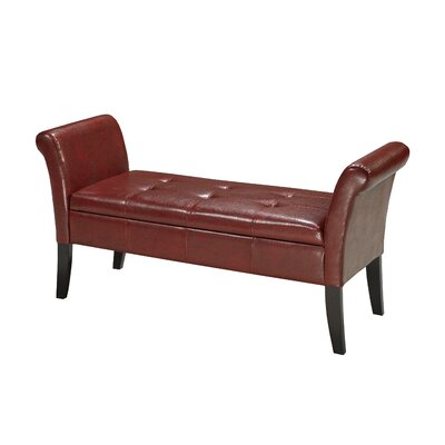Storage Bench Color: Red