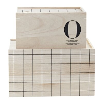 House Doctor Everyday 2016 2 Piece O Storage Box Set
