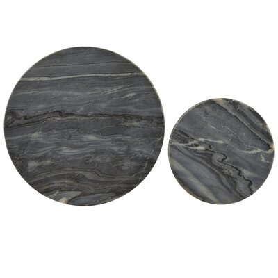 House Doctor Everyday 2016 2 Piece Round Marble Coaster Set