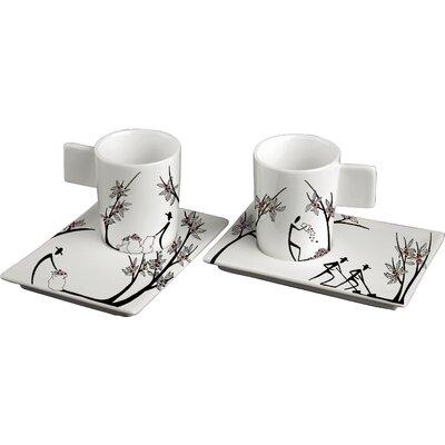 Deagourmet Origini Stesura 4 Piece Cup and Saucer Set