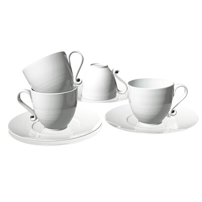Deagourmet Trame 4 Piece Espresso Cup and Saucer Set