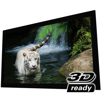 """White Fixed Frame Projection Screen Viewing Area: 92"""" Diagonal"""