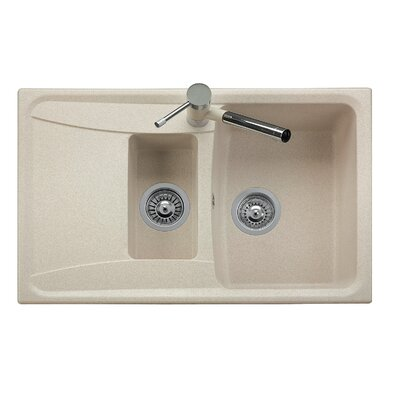 DeltaSRL Forma 79cm x 50cm Kitchen Sink