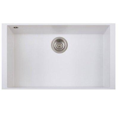 DeltaSRL Cube 45cm x 76cm Undermount Installation Kitchen Sink