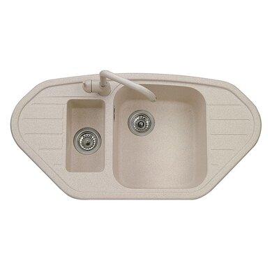 DeltaSRL Vogue 98cm x 50cm Kitchen Sink
