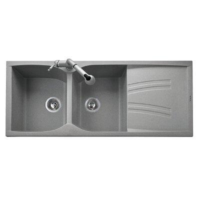 DeltaSRL Naiky 50cm x 116cm Kitchen Sink