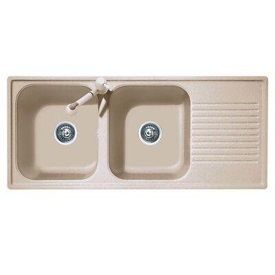 DeltaSRL Futura 116cm x 50cm Kitchen Sink