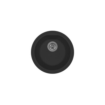 DeltaSRL 44cm x 35cm Round Kitchen Sink