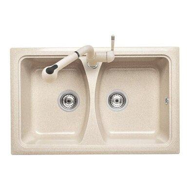 DeltaSRL Domino 79cm x 50cm Kitchen Sink