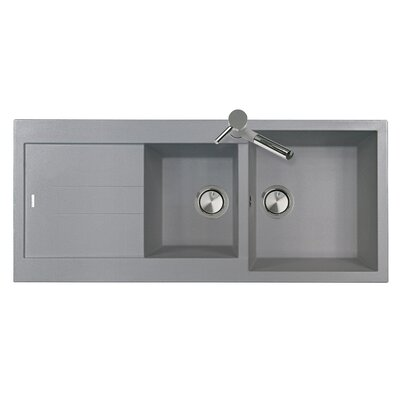 DeltaSRL Amanda 116cm x 50cm Kitchen Sink