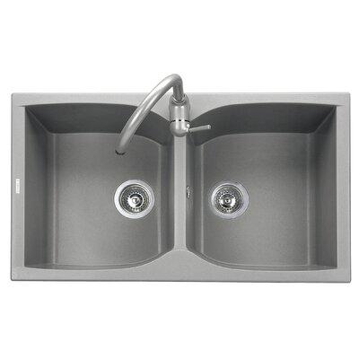 DeltaSRL Naiky 86cm x 50cm Kitchen Sink