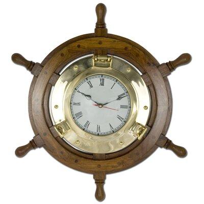 Breakwater Bay 45cm Rudder Wall Clock