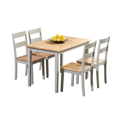 Breakwater Bay Beecher Falls Dining Table and 4 Chairs