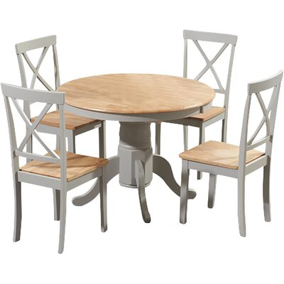 Breakwater Bay Belgrade Oak Dining Table and 4 Chairs