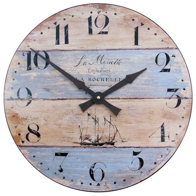 Breakwater Bay 36cm Driftwood Effect Wall Clock