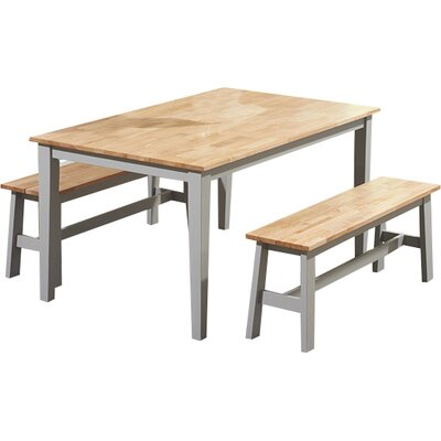 Breakwater Bay Allenstown Dining Table and 2 Benches