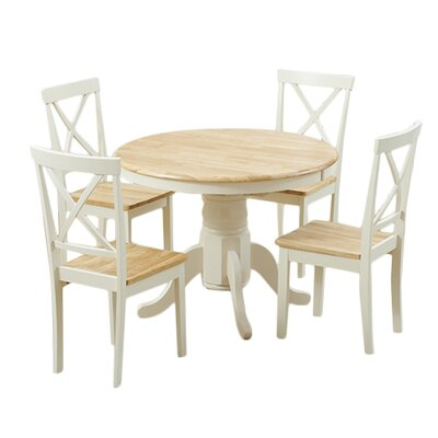 Breakwater Bay Bartett Extendable Dining Table and 4 Chairs