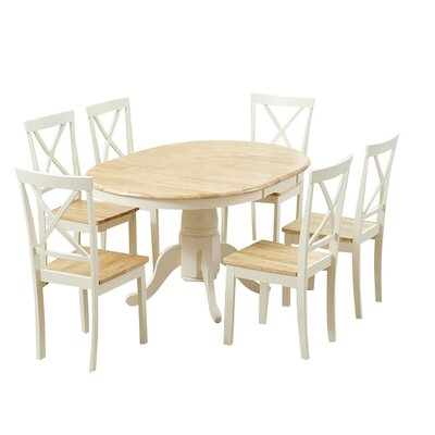 Breakwater Bay Bartett Extendable Dining Table and 6 Chairs