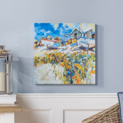 Breakwater Bay Daisies Amongst The Pebbles by Chris Forsey Canvas Wall Art
