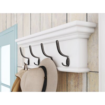 Breakwater Bay Lighthouse Cove Wall Mounted Coat Rack