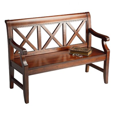 Sinsbury Wood Hallway Bench Color: Cherry