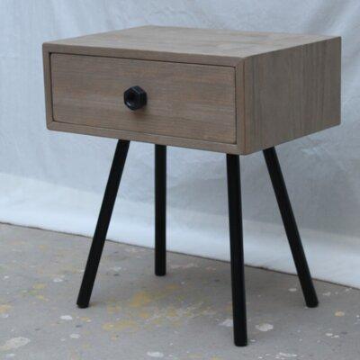 Añil Diseno Nut 1 Drawer Bedside Table