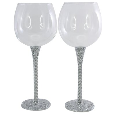 Aulica Deluxe Diamond Wine Glasses