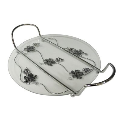 Aulica Anti Grape Round Pie Serving Tray