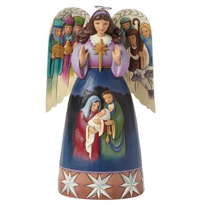 Heartwood Creek Lord at Thy Birth Nativity angel Figurine