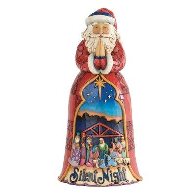 Heartwood Creek Silent Night Santa Figurine