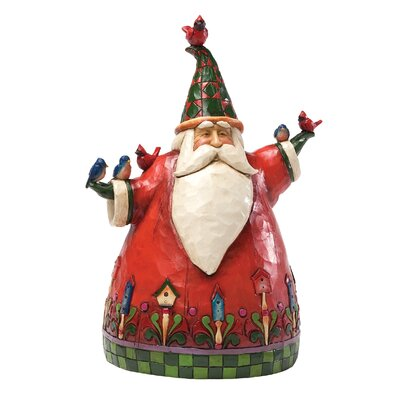 Heartwood Creek Home To Roost For the Holidays Santa with birds Figurine