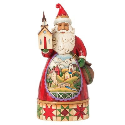 Heartwood Creek Grace at Christmas Time Church scene Santa Figurine