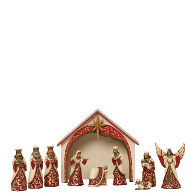 Heartwood Creek 10 Piece Mini Nativity Figurine Set