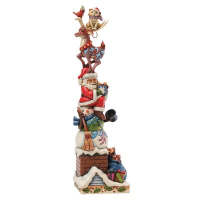 Heartwood Creek Piled High with Holiday Spirit Stacked Christmas Figurine