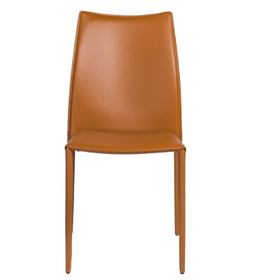 Jaymie Upholstered Dining Chair Color: Cognac