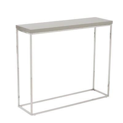 Mariotti Studio Console Table Color: Taupe Lacquer